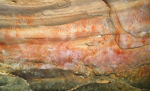 Red Hands Cave artwork